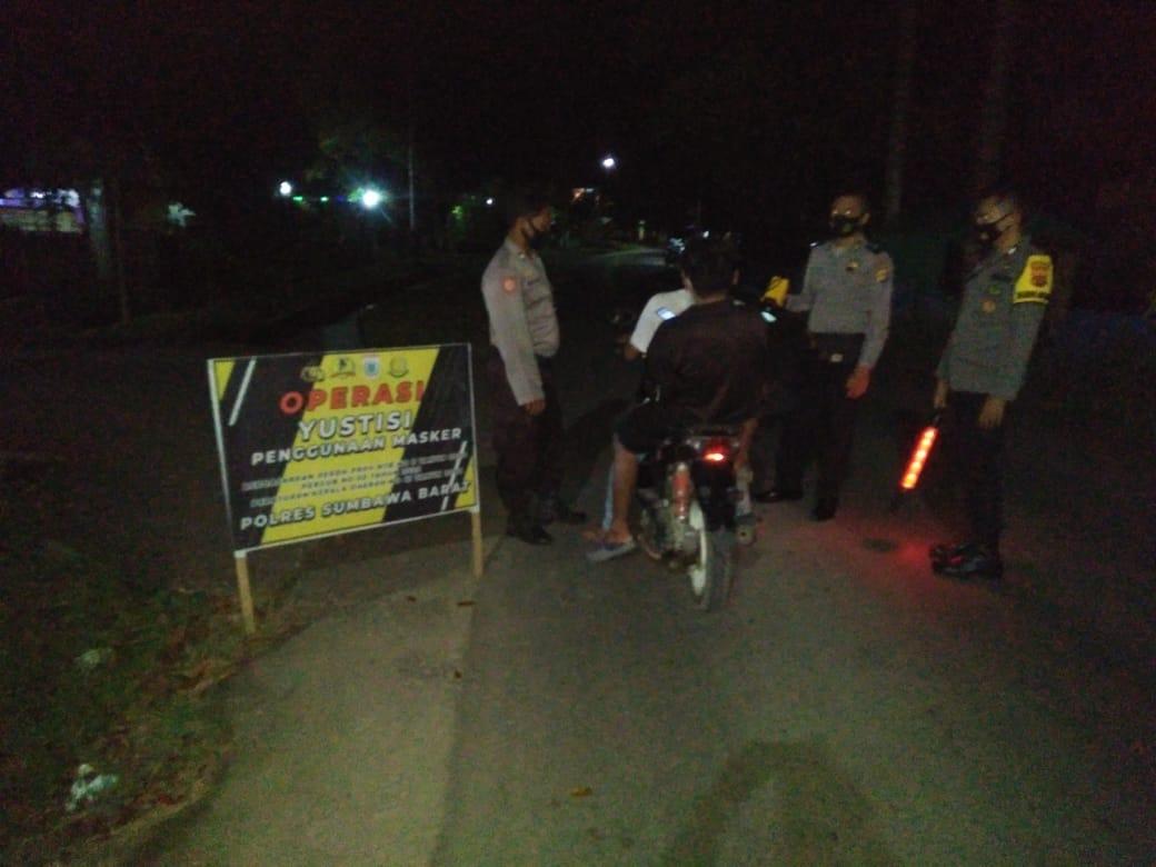 Operasi Yustisi Polsek Brang Rea Semalam, 7 Warga Dapat Teguran
